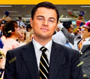 Leonardo ako Vlk z Wall Street.
